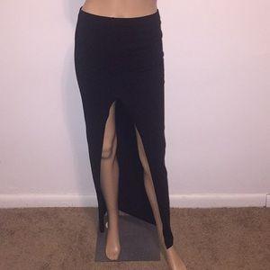 asos maxi long skirt with slip size 4
